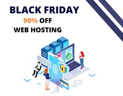 I make a black friday webhosting banner for a company