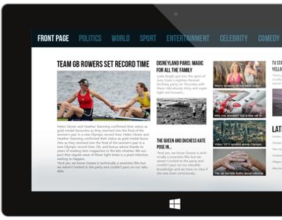 Aol.com Windows 8 Application Re-Imagined