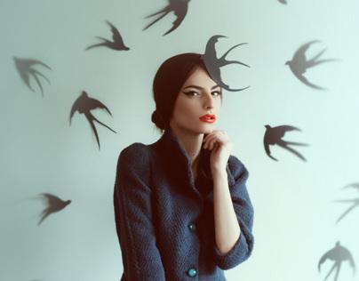 the first Swallow for Harper's Bazaar Fashion Forward