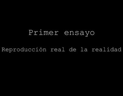 Ensayo 1 - Reproducción real de la realidad (2012)