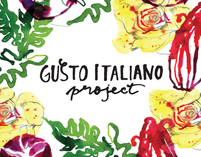 Gusto Italiano / Illustrated Organic seed label