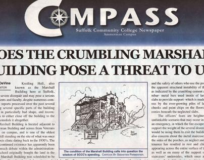 Journalism & Layout: Crumbling Campus Building Expose
