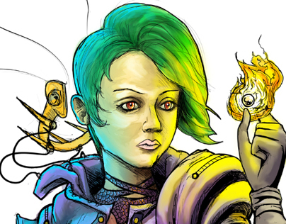 Sorceress Drawing and Speed Painting