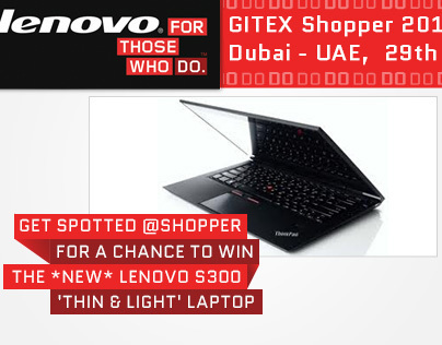 lenovo :: Gitex Shopper 2012 - Facebook Tab