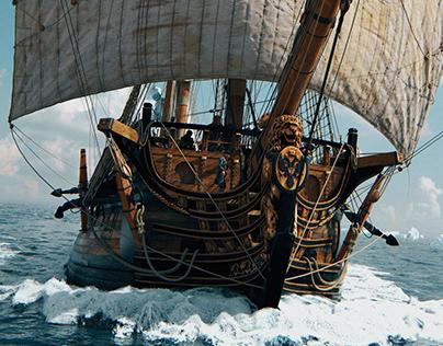 Ingermanland CG Sailing Ship