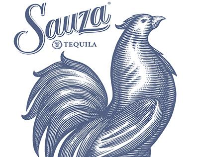 Sauza Tequila Brandmark Illustrated by Steven Noble