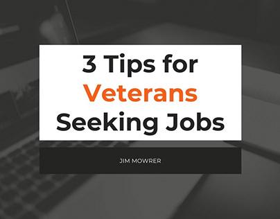 Presentation for Veterans Seeking Jobs | Jim Mowrer