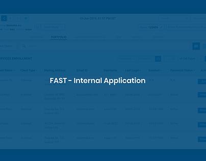 FAST - Bank Internal Application - Adobe XD
