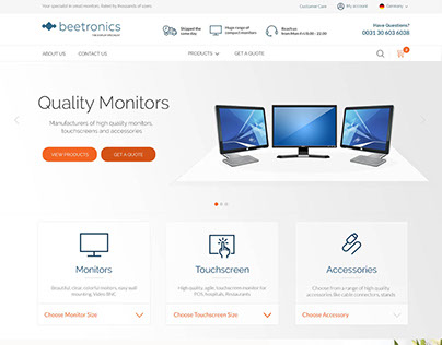 Beetronics Home page concept