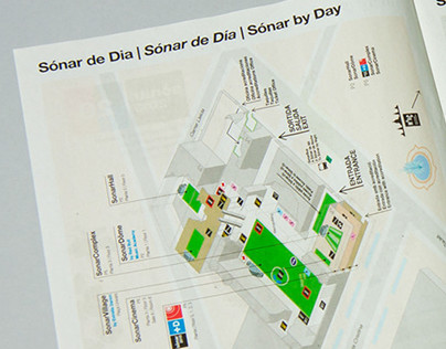 Sonar 2013 - Redesign of maps for festival location