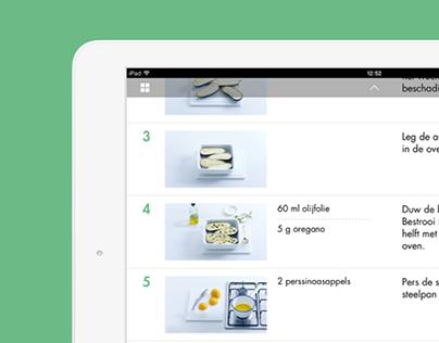 Allerhande Cooking app for iPad