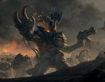 Warhammer 40k Fan art Orks vs empire