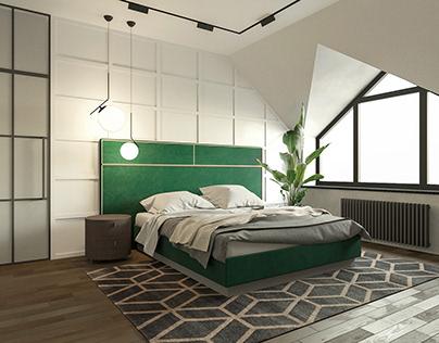 Bedroom in Rivne