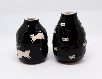 Tiny Cat Vases