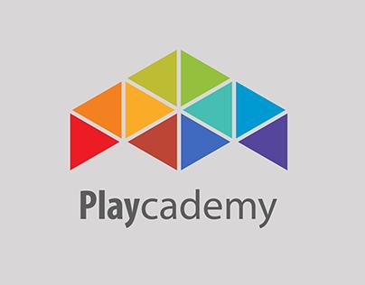Playcademy - Video Games Center Logo Design