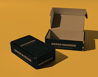 Packaging Cardboard Box Mockup
