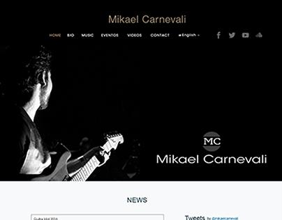 "Parallax Website Design for ""Mikael Carnevali"""