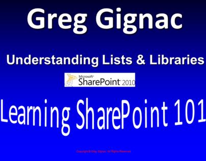 Understanding SharePoint Lists & Libraries