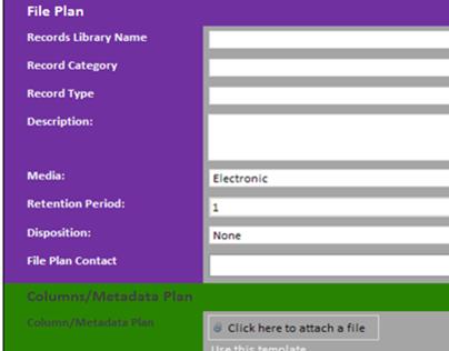 HR File Plan using InfoPath