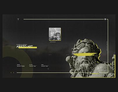 Art Design Landing Page