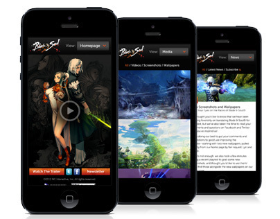 Blade and Soul Responsive Mobile Experience