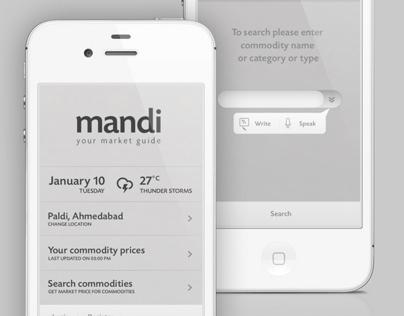 Mandi App / Interface Design