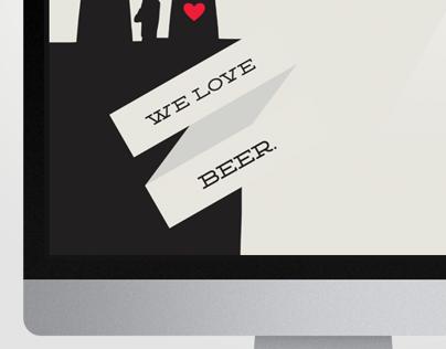 """""""We Love Beer"""" Wallpaper"""