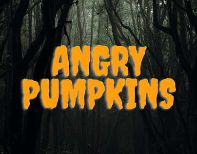 Angry Pumpkins - First Mobile Touch Game Project