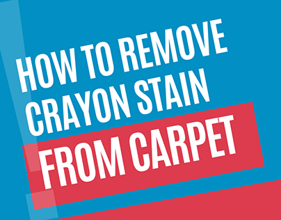 How to Remove Crayon from your Carpet