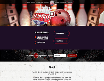 Bowling Website Design