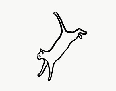 handdrawn cats