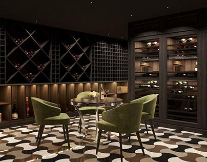 Luxury winecellar interior design