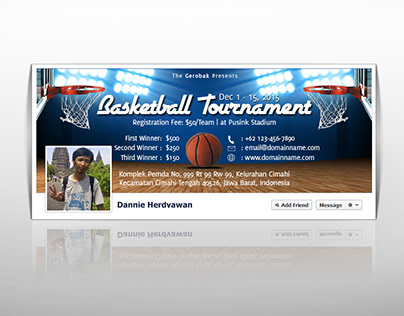 Basketball Tournament Facebook Timeline Cover