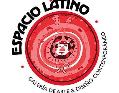 """Logotipo para galería """"Espacio Latino"""" + Papelería"""