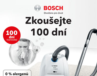 Landing page for Bosch