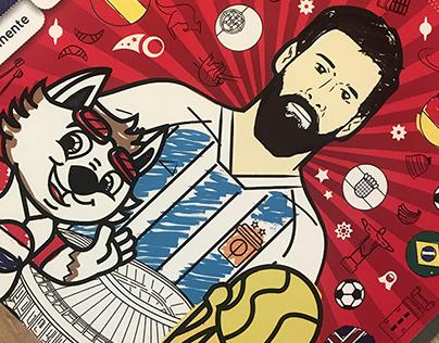 World Cup Coloring Book - Album del Mundial