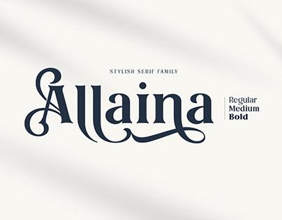 Allaina Stylish serif family