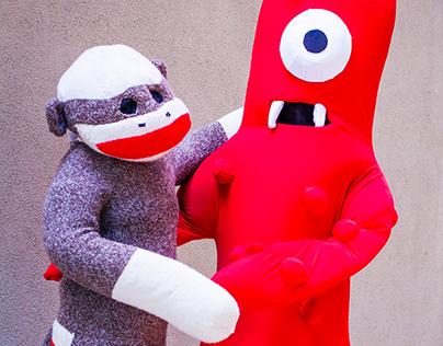 Sock Monkey, Muno, and Mr X