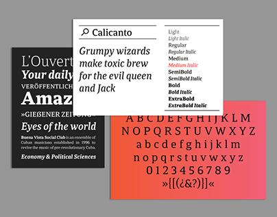 Calicanto. Typeface.