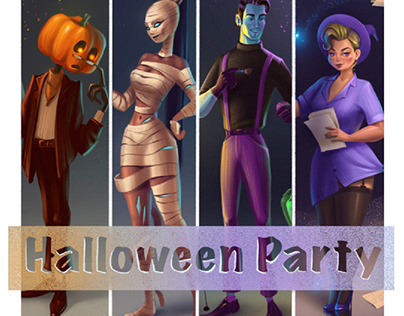 Halloween Party. Profession