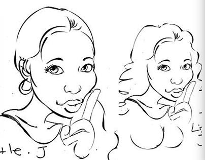 little portrait sketches