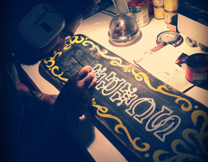 Sign Painting skateboard #2