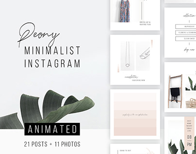 ANIMATED Instagram Posts – Peony + 11 Photos