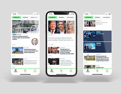 VRT NWS app & website redesign
