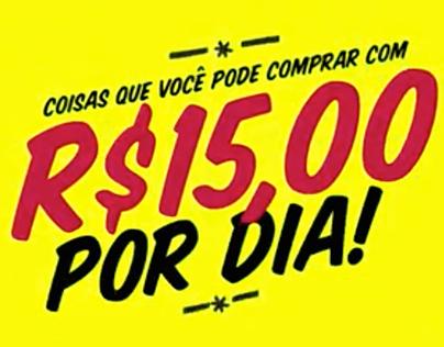 R$ 15,00