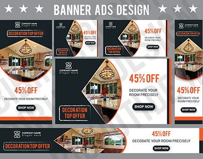 Banner Ads Design of Room Decoration Offer
