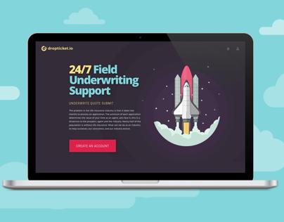 Dropticket Website design