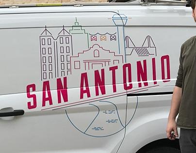 Google Fiber San Antonio Van Artwork