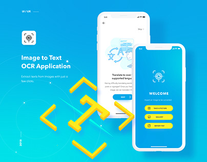 Image-To-Text OCR | Mobile App & Landing Page Design