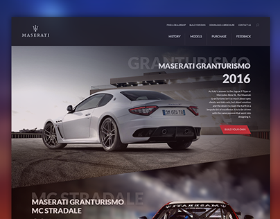 Concept of Maserati website